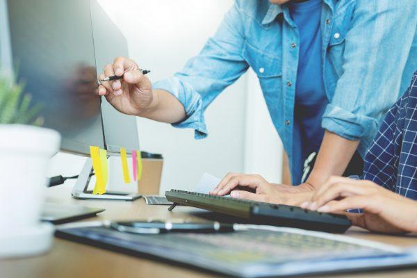 Programmer Outsource Developer Team coding technologies Website design. Mobile Application Software, Cyber space concept.